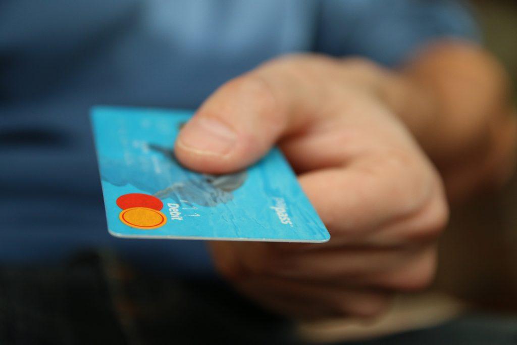 blue MasterCard credit card