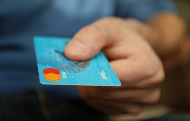 blue MasterCard credit card